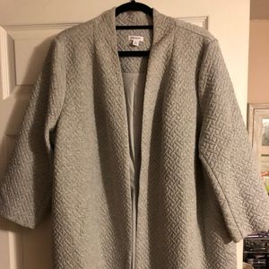 Gray quilted blazer